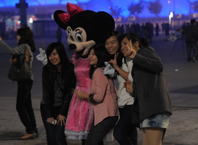 Arm Around Minnie