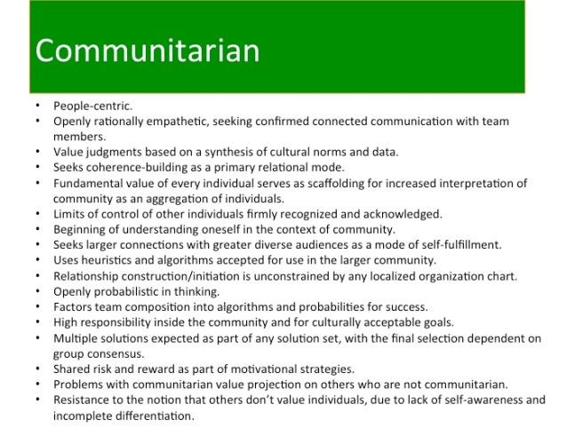 Communitarian