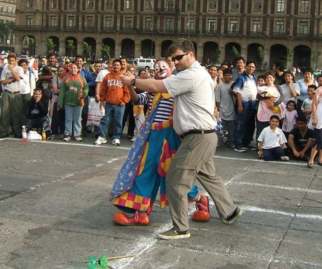 mexico city zocalo clown