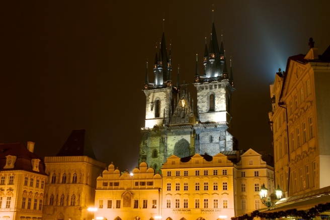 Prague Downtown Night